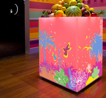 Tropical Lightbox Design